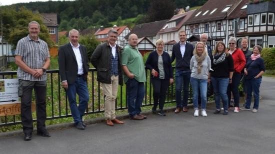Gruppenfoto auf der Dießebrücke - Violinenstraße