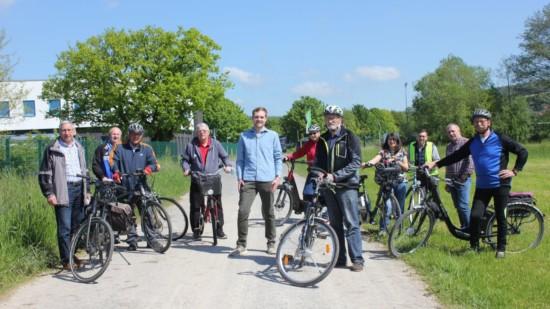 Fahrradwegekonzept - SPD mit Fahrrad unterwegs